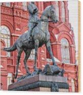 Marshal Georgy Konstantinovich Zhukov Statue Wood Print