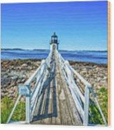 Marshall Point Light Station Wood Print