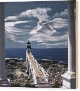 Marshall Point Lighthouse Maine Wood Print by Skip Willits