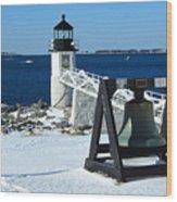 Marshall Point Snow Wood Print