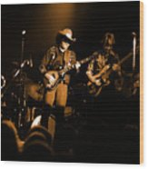 Marshall Tucker Winterland 1975 #12 Enhanced In Amber Wood Print