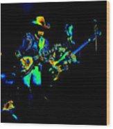 Marshall Tucker Winterland 1975 #14 Enhanced In Cosmicolors Wood Print