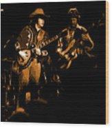 Marshall Tucker Winterland 1975 #17 Enhanced In Amber Wood Print