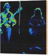 Marshall Tucker Winterland 1975 #18 Enhanced In Cosmicolors #2 Wood Print