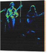 Marshall Tucker Winterland 1975 #18 Enhanced In Cosmicolors Wood Print