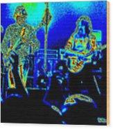 Marshall Tucker Winterland 1975 #18 In Special Cosmicolors Wood Print