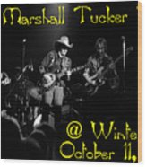 Marshall Tucker Winterland 1975 #3 Crop 2 With Text Wood Print