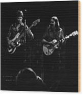 Marshall Tucker Winterland 1975 #36 Enhanced Bw Wood Print