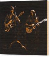 Marshall Tucker Winterland 1975 #36 Enhanced In Amber Wood Print