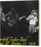 Marshall Tucker Winterland 1975 #37 Crop 2 With Text Wood Print