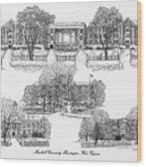 Marshall University Wood Print
