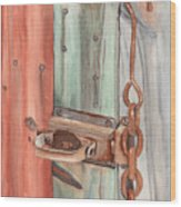 Marsha's Lock Wood Print