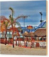 Martells On The Beach - Jersey Shore Wood Print