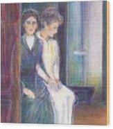 Martha And Mary Wood Print