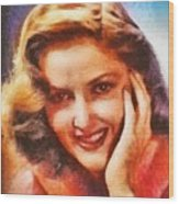 Martha Vickers, Vintage Hollywood Actress Wood Print