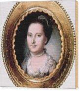 Martha Washington 1731-1802, First Lady Wood Print by Everett