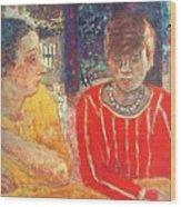 marthe in red blouse c1928 Pierre Bonnard Wood Print