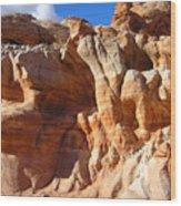 Martian Cliffs Wood Print