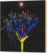 Martian Flower Wood Print