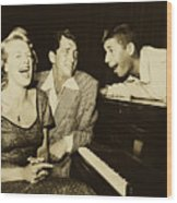 Martin, Lewis, And Clooney Wood Print
