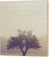Martin Luther Apple Tree Quote Wood Print