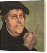 Martin Luther  Finger Wood Print