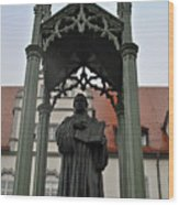 Martin Luther In Market Square Wood Print