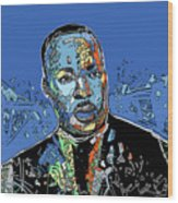 Martin Luther King Color Wood Print