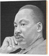 Martin Luther King, Jr Wood Print