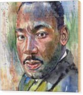 Martin Luther King Jr. Painting Wood Print
