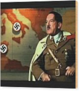 Martin Wuttke As Adolf Hitler Number One Inglourious Basterds 2009 Color Added 2016 Wood Print