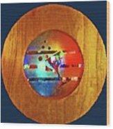 Martini Porthole Wood Print