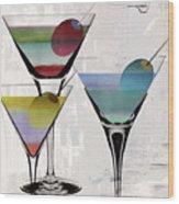 Martini Prism Wood Print