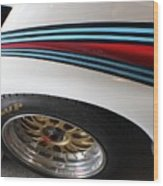 Martini Racing Lines Wood Print
