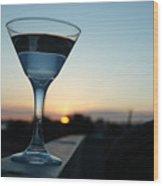 Martini Sunset Wood Print by John Finch