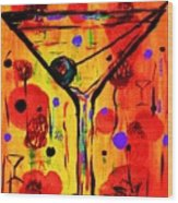 Martini Twentyfive Of Sidzart Pop Art Collection Wood Print