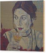 Martini Women Wood Print