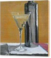 Martini3 Wood Print