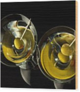 Martinis For Two Wood Print
