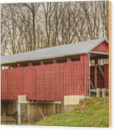 Martinsville Covered Bridge Wood Print
