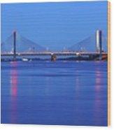 Martinus Nijhoff Bridge Over The Waal River Near Zaltbommel Wood Print