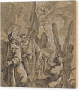 Martyrdom Of Saint Andrew Wood Print