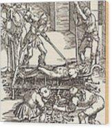 Martyrdom Of Saint Lawrence Wood Print