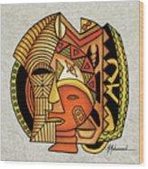 Maruvian Masks 1 Wood Print
