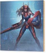 Marvel Future Fight Wood Print