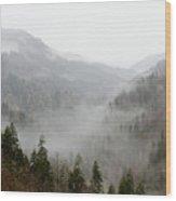 Marvelous Mist Wood Print