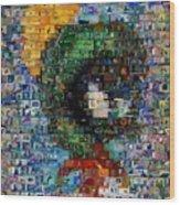 Marvin The Martian Mosaic Wood Print