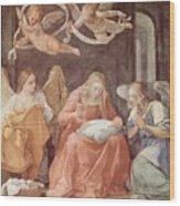 Mary And Angels 1611 Wood Print
