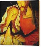 Mary And Joseph Wood Print