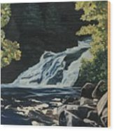 Mary Ann Falls On The Cabot Trail Wood Print
